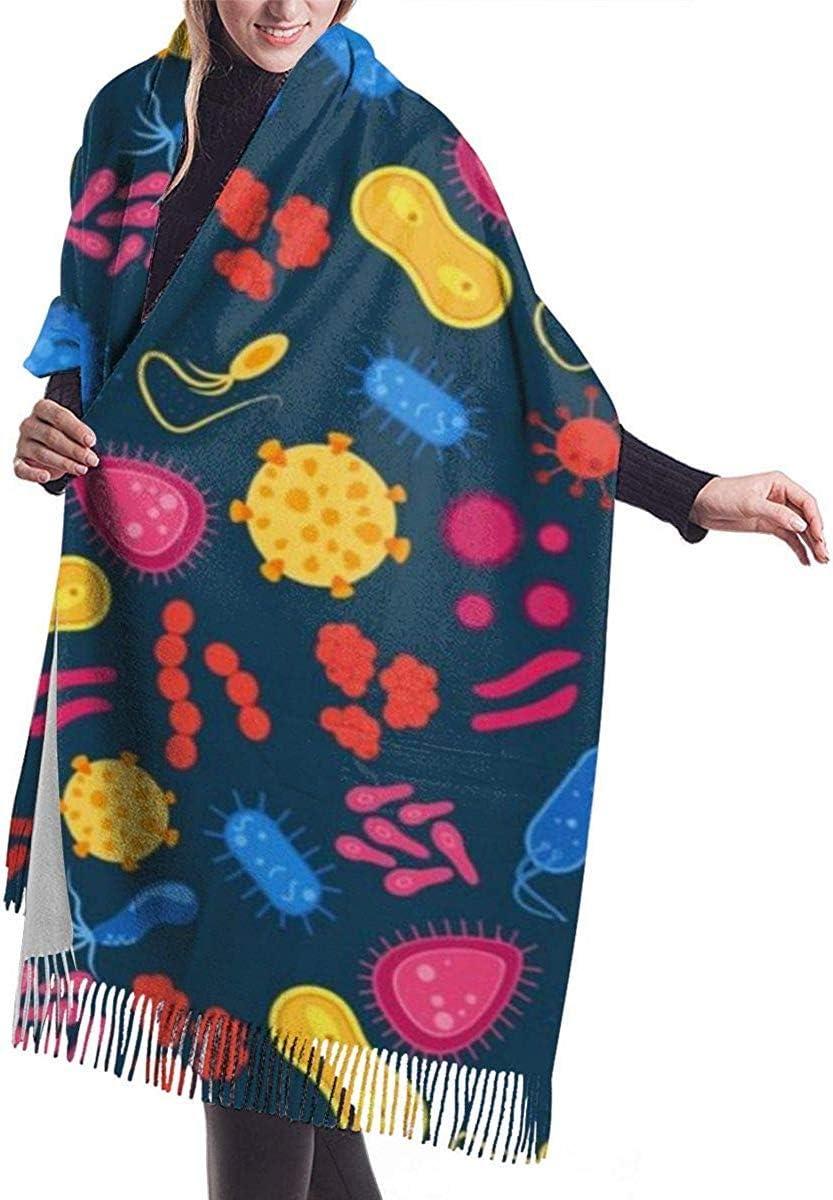 LLOOP - Bufanda de Cachemira para Mujer con Virus de Borla y bacterias: Amazon.es: Deportes y aire libre