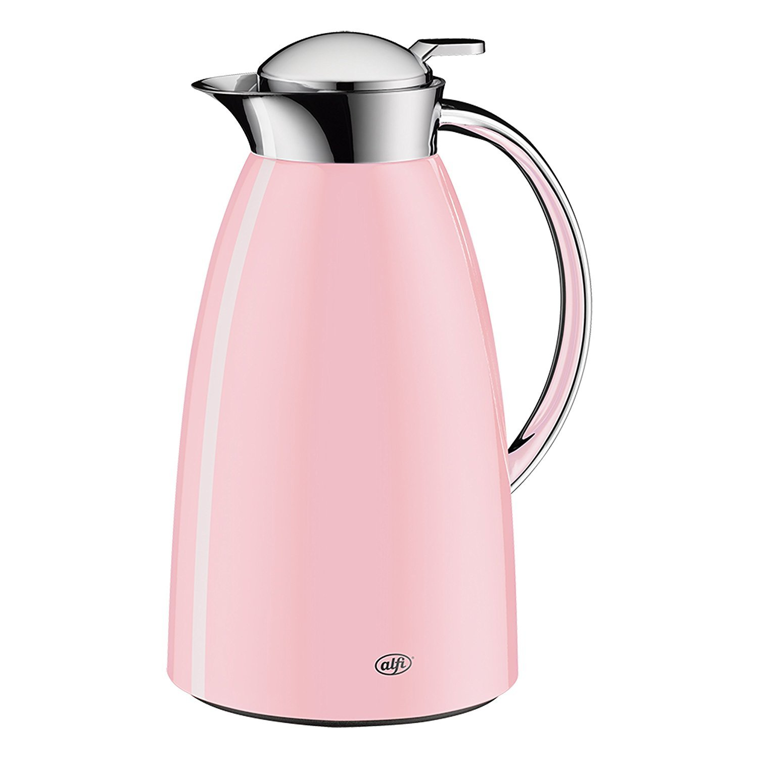 alfi Gusto Glass Vacuum Lacquered Metal Thermal Carafe 1.0 L, Powder Pink