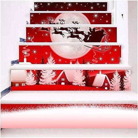 SERFGTFH Escalera Pasos Adhesivo Removible Sticker Bricolaje Adornos De Navidad: Amazon.es: Hogar