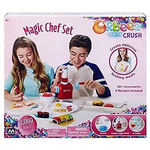Orbeez Super Fine Crush Magic Chef Set Plus 6,000 Bonus Water Beads (Orange, Clear, Yellow, Pink, Red & Blue Refill Packs)