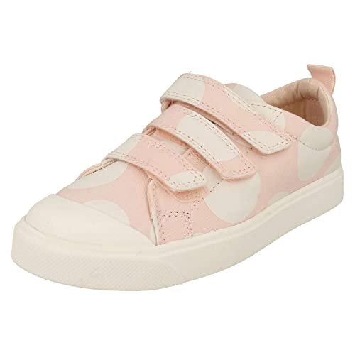 bab2d0da7027 Clarks Childrens Boys Girls Hook and Loop Canvas Shoes City Flare Lo K:  Amazon.co.uk: Shoes & Bags
