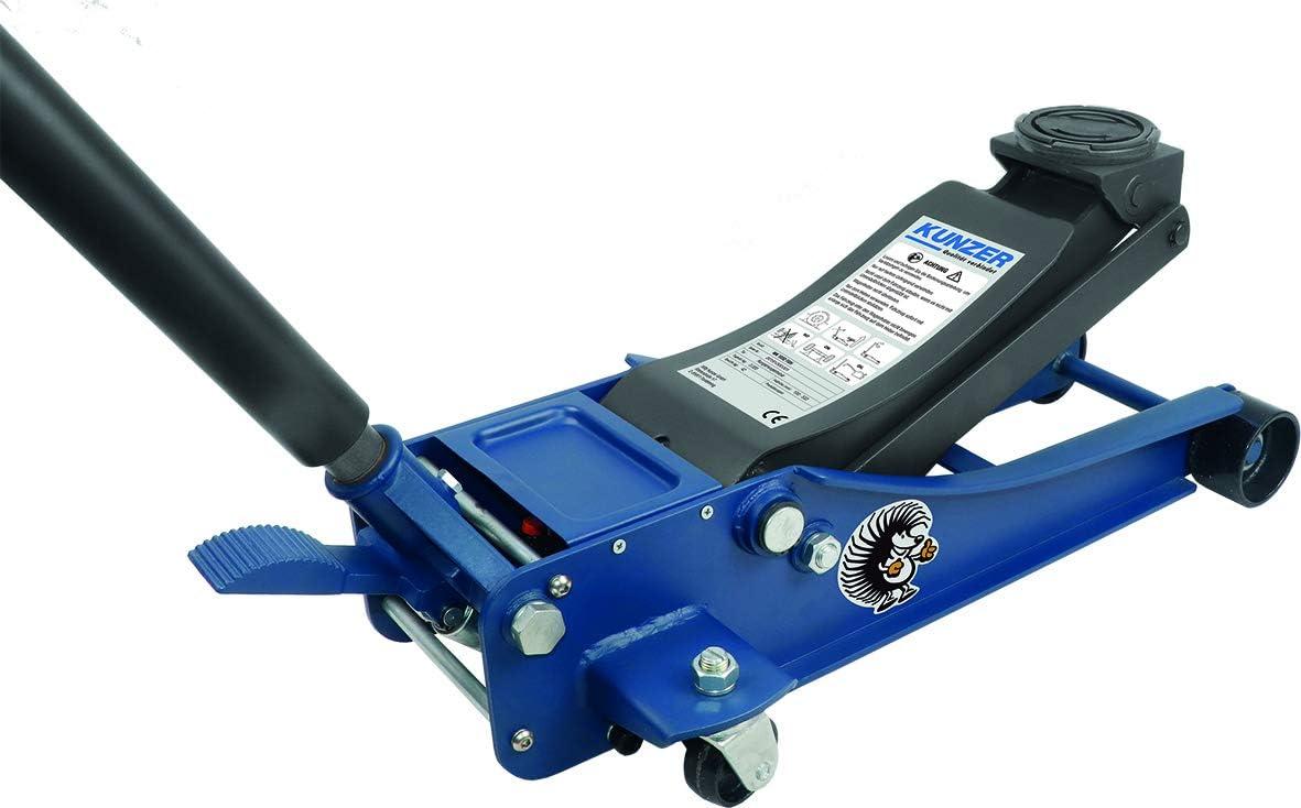 Kunzer Wk 1032 Fsh Hydraulischer Rangierwagenheber Extra Stark 3000 Kg Tragkraft Doppelpumpsystem Mit Fußschnellhub Auto