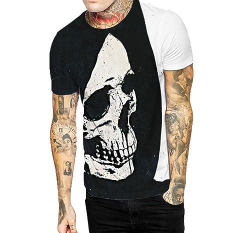 Camiseta estampado de hombre manga corta,Sonnena ❤ Chaleco informal para hombres con estampado