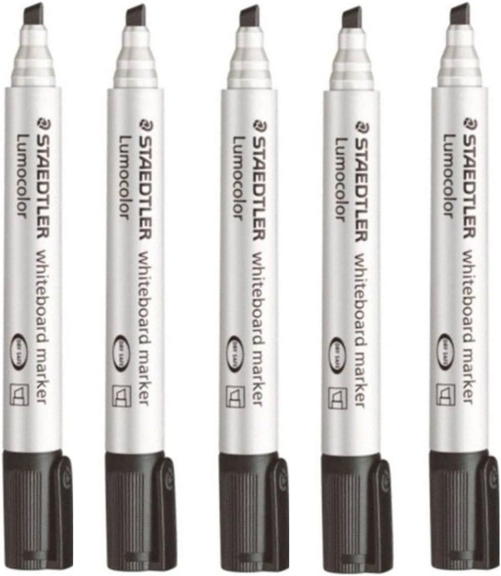 Glass Porcelain Dry Wipe Fast Dry Safe 351 Staedtler Lumocolor Black Bullet Tip Whiteboard Board Markers 3 Pack