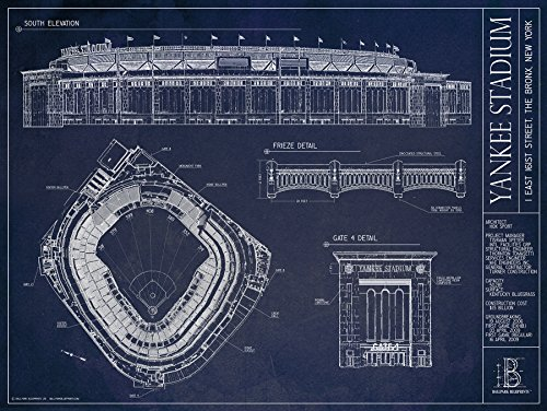 Yankee Stadium Ballpark Blueprint