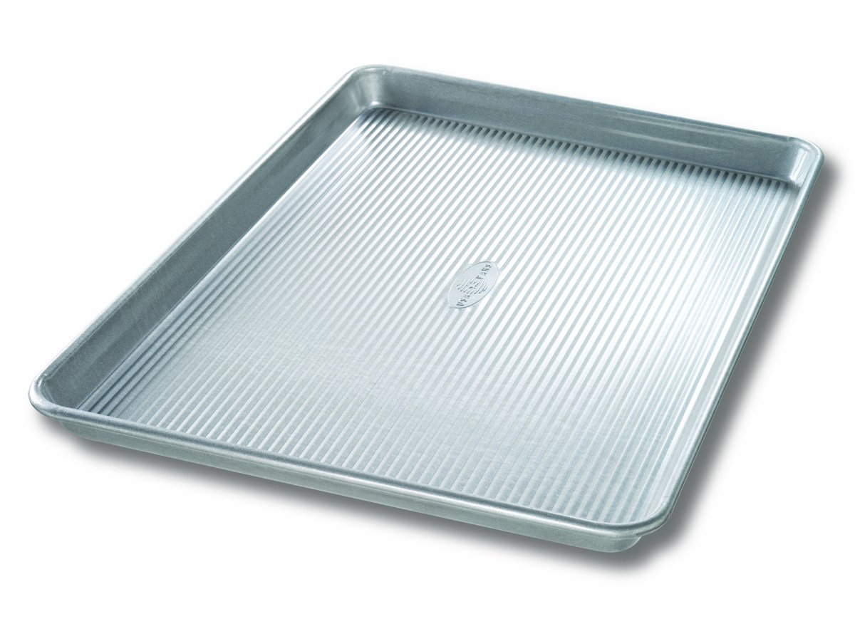 USA Pan Bakeware Extra Large Sheet Pan, Warp Resistant Nonstick Baking Pan, Made in the USA from Aluminized Steel by USA Pan
