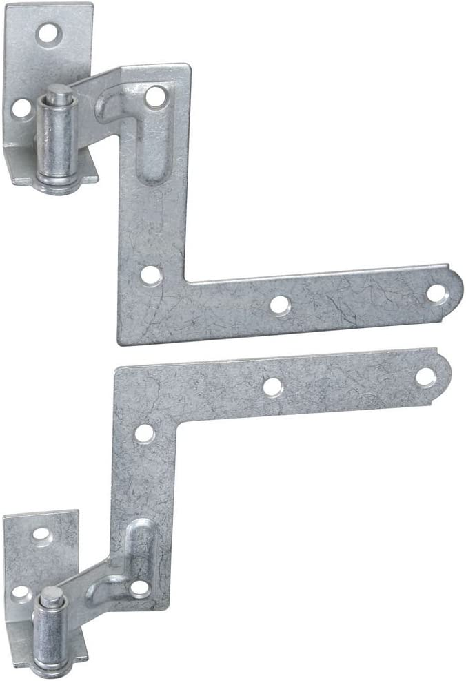 "National Hardware N269-862 MPB476 Shutter Hinge Kit in Galvanized, 11/16"" Offset, 1 Pack"