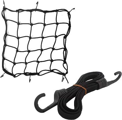 YouN Stockage Web de v/élo moto Crochets Cordon /élastique bagages de filet de