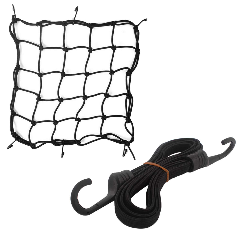 1PCS Luggage Strap Rope Belt for Motorcycle Bicycle Helmets Package Balloon Jacket Raincoat Eliosna 1PCS Elastic Cargo Net Mesh Motorcycle Net
