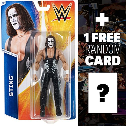 Sting: WWE Basic Series #55 + 1 FREE Official WWE Trading Card Bundle by WWE