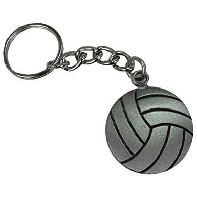 Amazon.com: gemgear peltre Llavero de voleibol: Clothing
