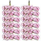 144pcs Artificial Paper Rose Flower Buds Mini Bouquet Party Decor-Light Pink