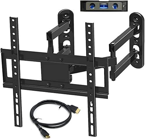 Everstone Corner TV Wall Mount for 26-50 Inch LED,LCD,Plasma Flat Screen,Curved Screen TV Articulating Brackets Tilt, Swivel, Full Motion