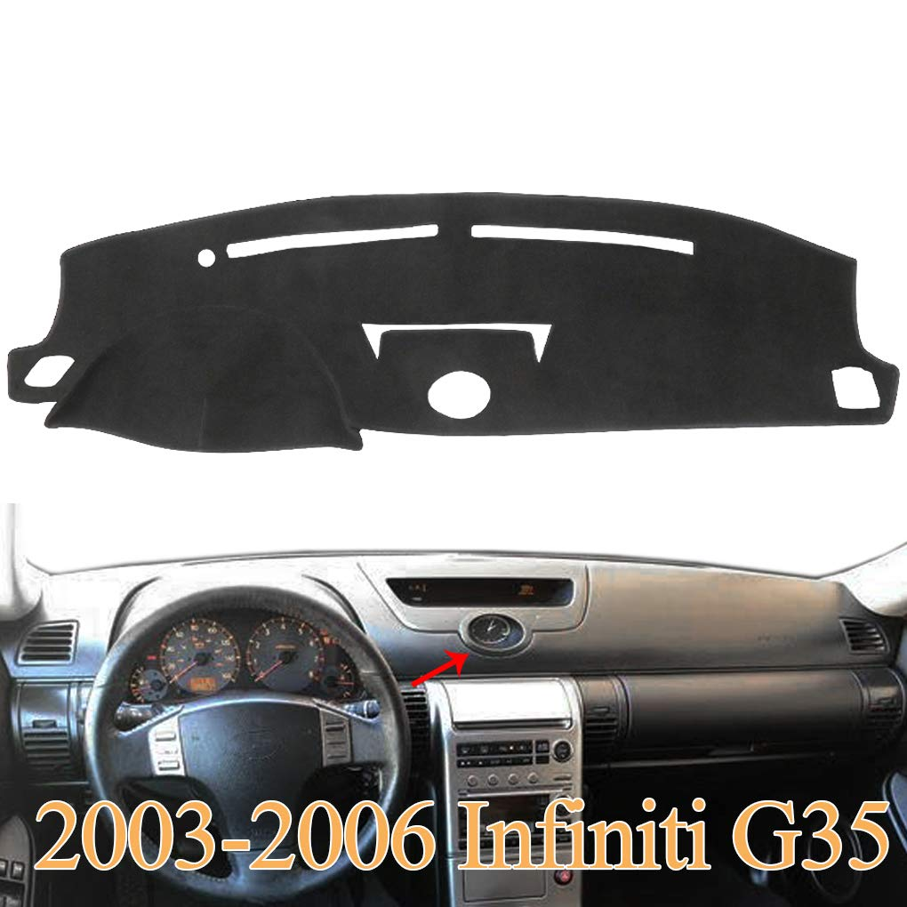 Black Yiz Dash Cover Dashboard Cover Mat Carpet Pad Fit for Chevy Chevrolet Cavalier 1995-2005