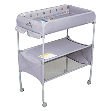 Gray Costzon Baby Changing Table Folding Diaper Station Nursery Organizer for Infant