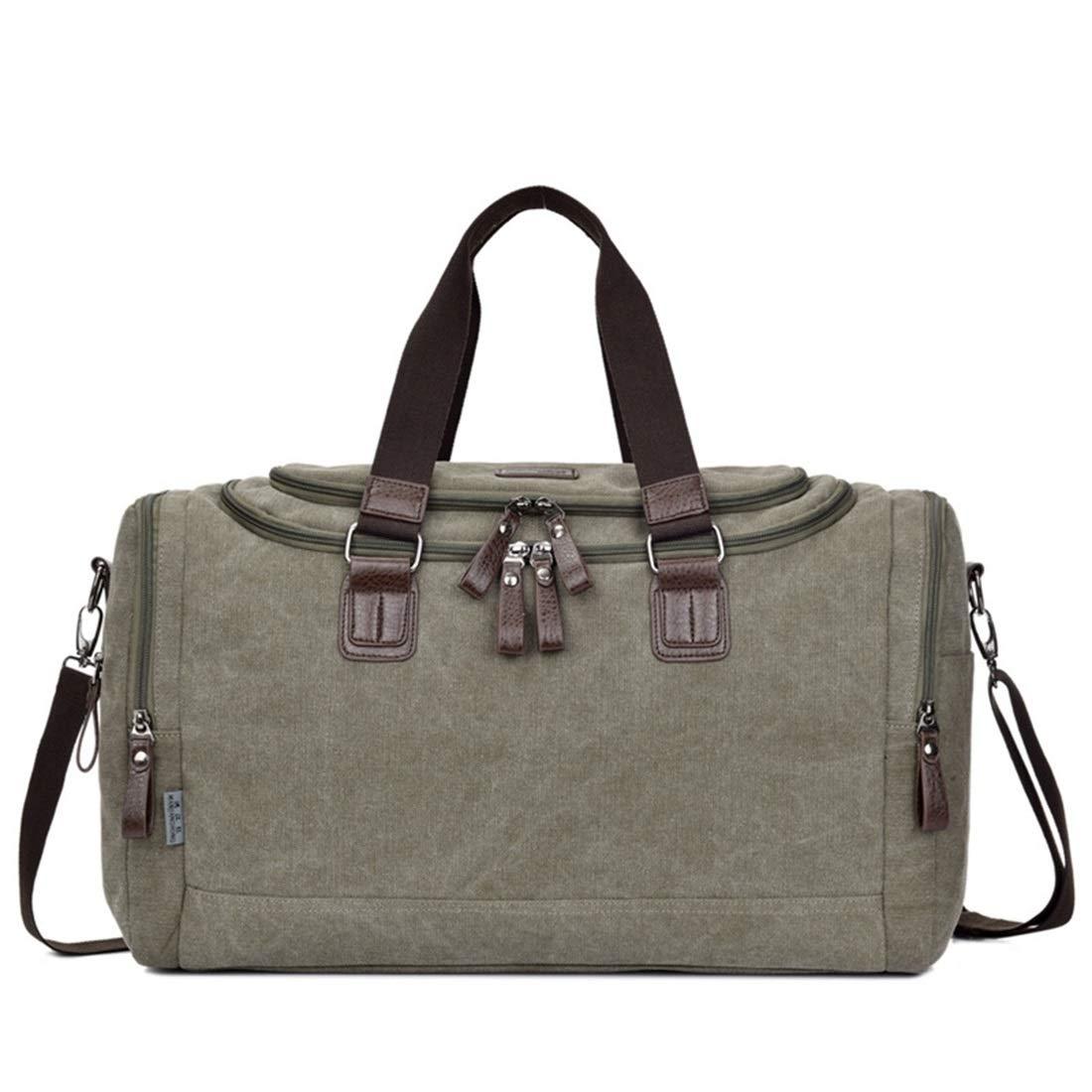 Carriemeow Canvas Bag Hand Bag Business Casual Canvas Large Single Shoulder Bag Travel Luggage Bag Fashion Satchel Color : Green