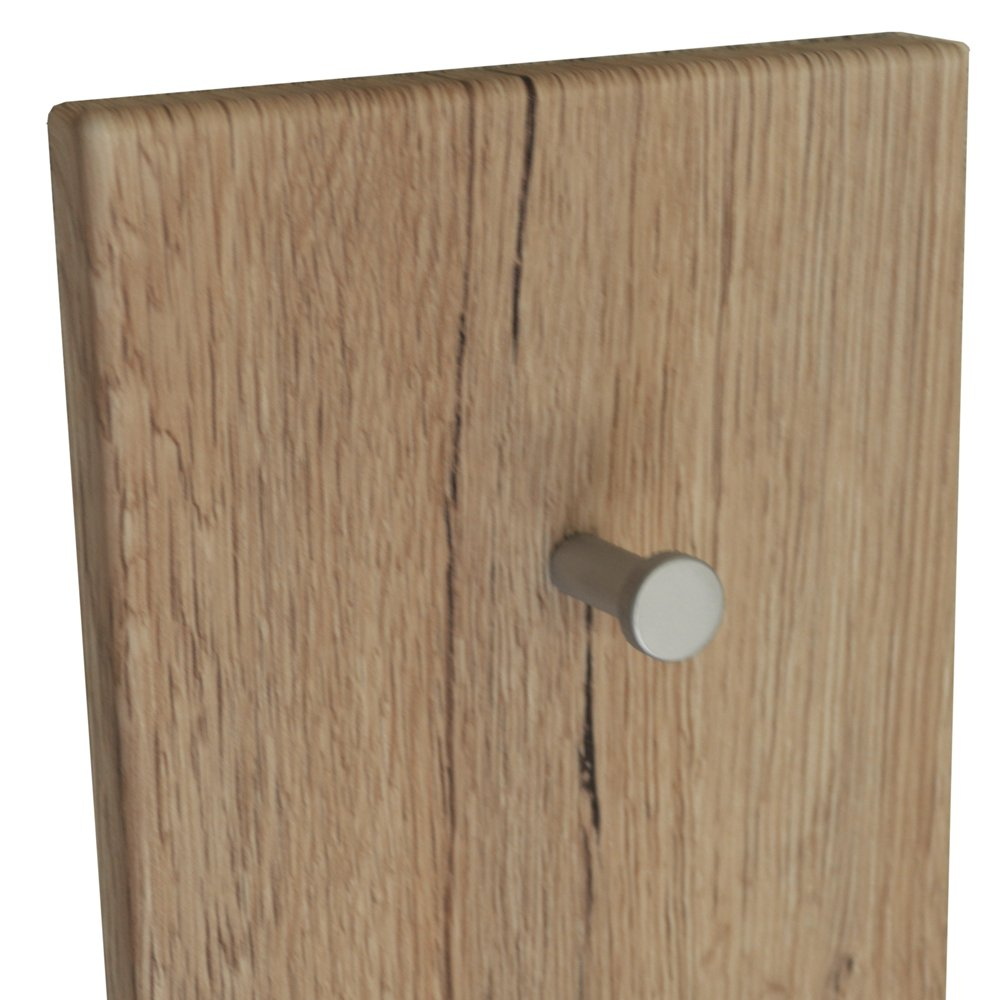 WATSONS SHAKER Wood Effect Wall Mounted 4 Coat Towel Robe Hanging Hooks Oak