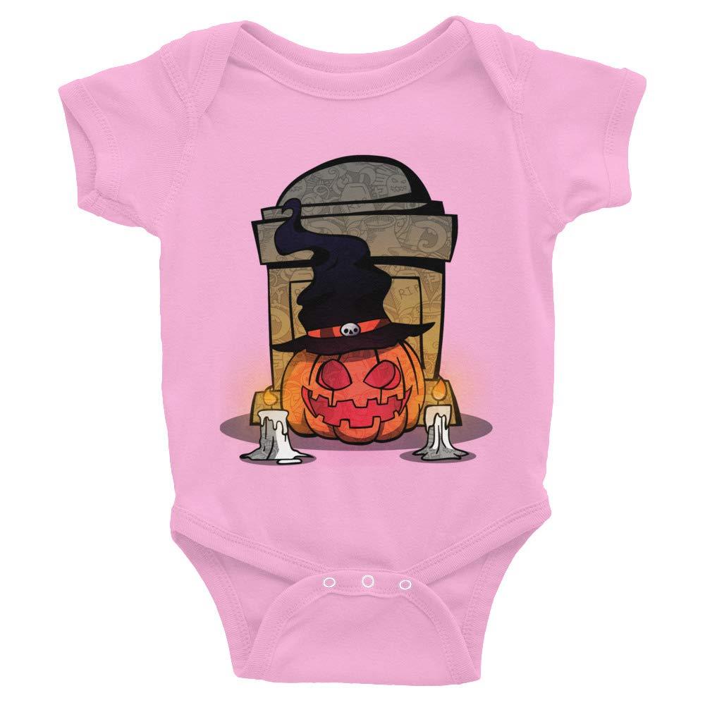 Happy Halloween Pumpkins Ghost Rabbit Skins 4400 Infant Baby Rib Bodysuit
