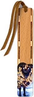 product image for Odin The Sheep - Art by Mary Beth Ihnken on Solid Cherry Wooden Bookmark with Tassel
