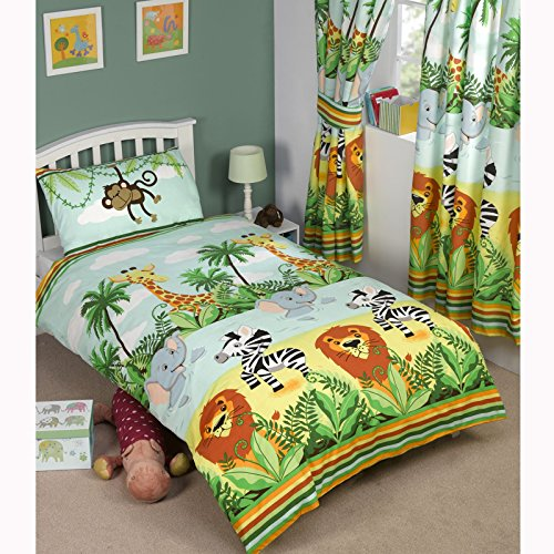 Jungle-Tastic Single/US Twin Duvet Cover + Matching Curtains 66