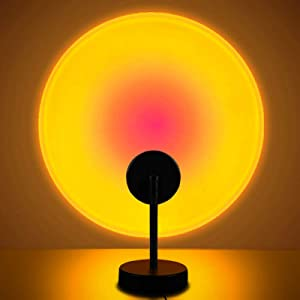 Sunset Lamp Projector Night Light Projection Led Lamp, 180 Degree Romantic Visual Network Red Light with USB Modern Floor Stand Night Light Living Room Bedroom Garden Family Party Decor - Sun