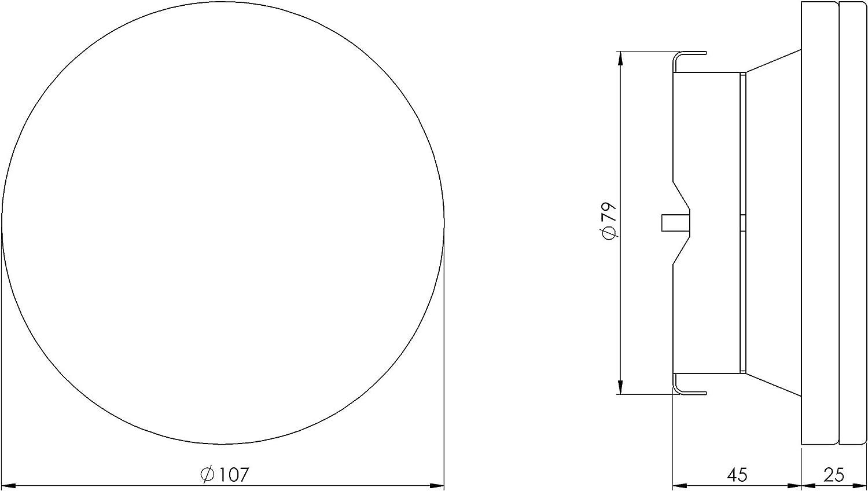 Vanne /à air /Ø 80 mm En t/ôle dacier blanche Pour raccord de tuyau Diam/ètre : 80 mm