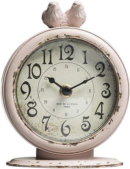 Relojes de mesa Reloj de sobremesa Americano Retro Cuarzo Metal ...