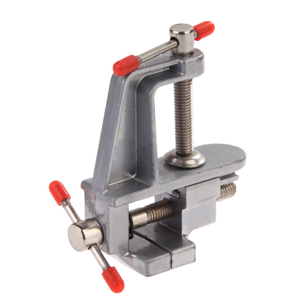 AMZVASO 35mm Aluminum Miniature Small Jewelers Hobby Clamp On Table Bench Vise Tool Clap Portable Professional Tool