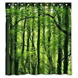 Discount Fabric Shower Curtains Shower Curtain Beautiful Fresh Green Forest Fabric 66(W) X72(H)