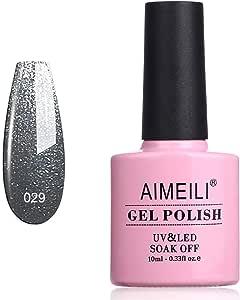 AIMEILI Soak Off UV LED Gel Nail Polish - Shiny Asphalt (029) 10ml