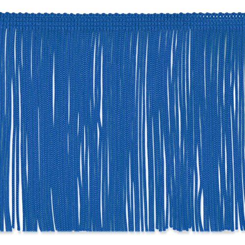 6in Chainette Fringe Trim Royal Blue Fabric By The Yard