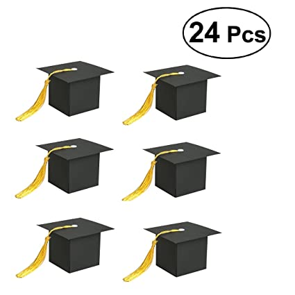 amazon com janou graduation cap shaped candy boxes gift paper sweet