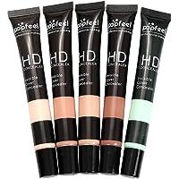 Fityle 5 Colores Corrector Líquido Fundación Resaltador Caché Ojo Corrector Mancha Anti Cerne para Maquillaje