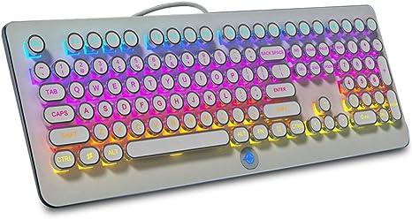 Teclado retroiluminado para juegos de 108 teclas RGB Eje azul ...