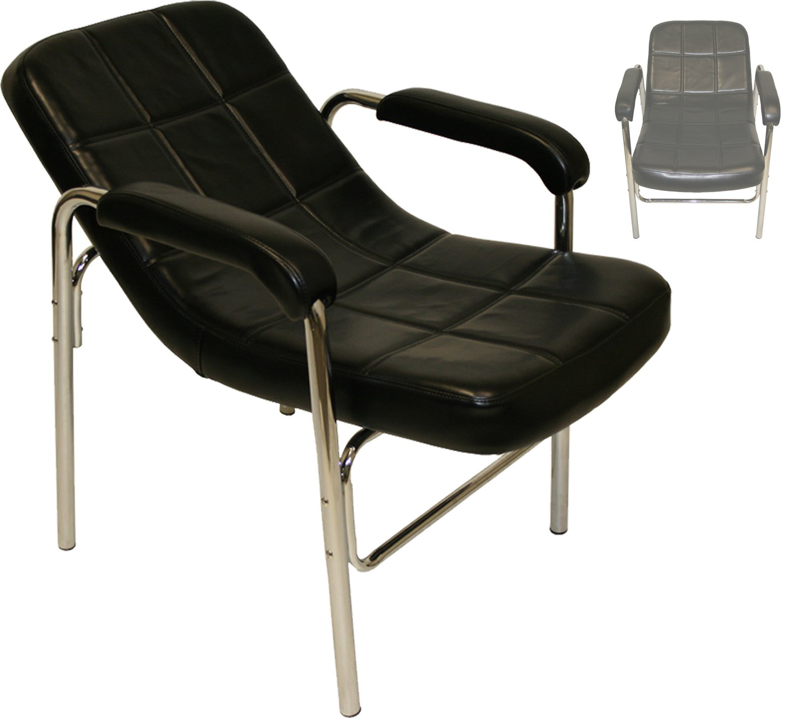 LCL Beauty Comfort-Curve Contemporary Sling-Back Style Reclined Shampoo Chair