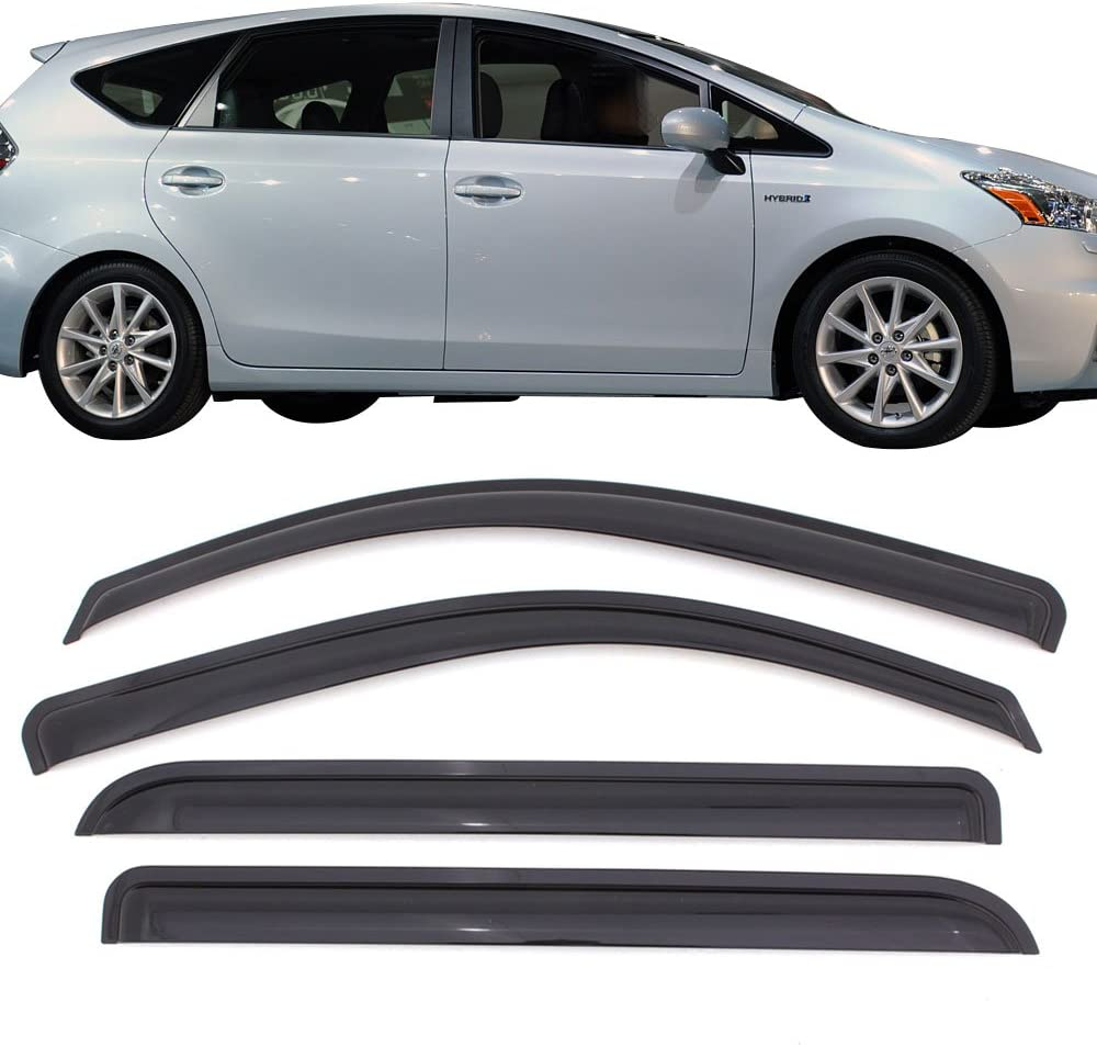 Vent Shade Window Visors Deflector For Toyota Prius 10 11 12 13 14 15 All 4pcs