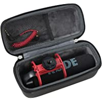 Hermitshell EVA Hard Protective Case Fits Rode VideoMic GO Light Weight On-Camera Microphone