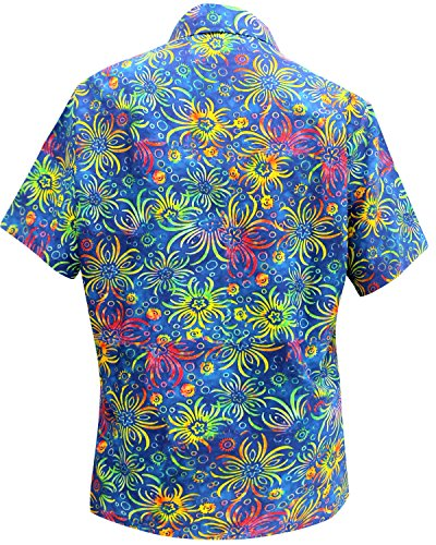 hawaiano botón de la camisa blusas Mujeres aptas abajo relajados mangas cortas campo de múltiples Multi
