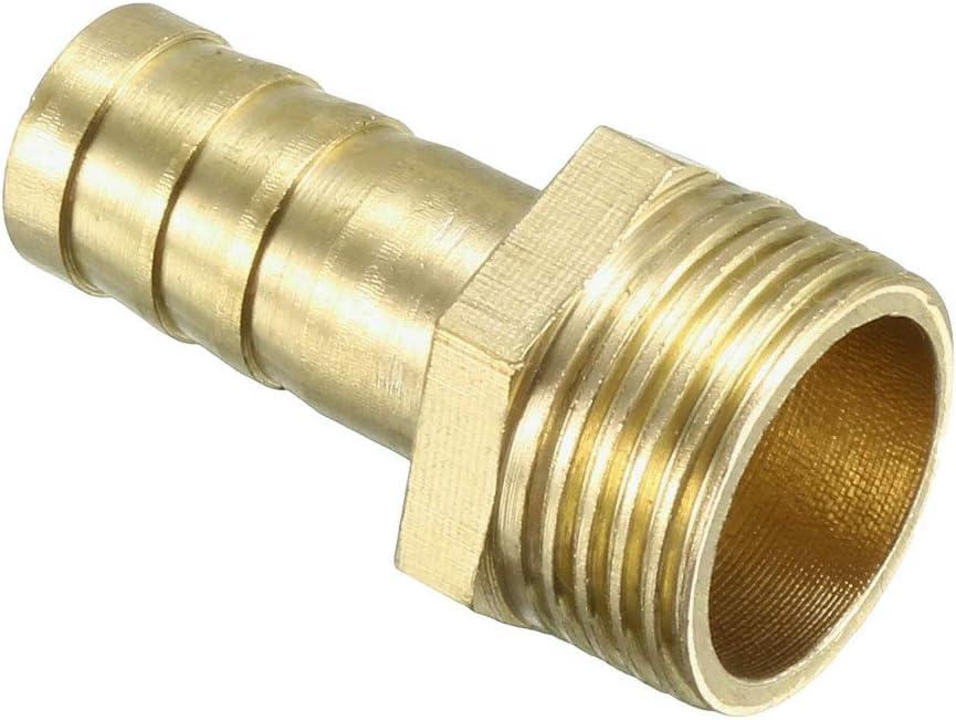 sourcing map Adaptateur laiton raccord tuyau barbel/é 6mm Barbelurex1//4 PT M/âle Tuyau