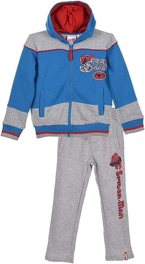 Spiderman - Chándal - para niño azul/gris 4 años: Amazon.es: Ropa ...