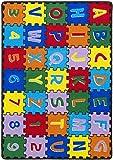 Children's 5' X 7' Area Rug Kids Carpet Non Skid Gel Backing (ABC Puzzle)