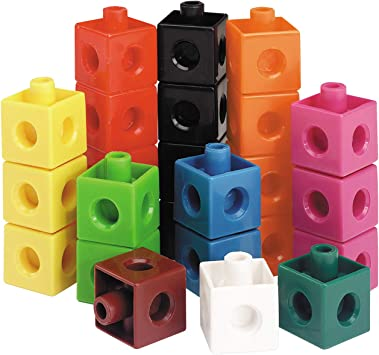 100x Learning Resources Kids Math Snap Cubes Blocks Counting Building 10 Colors