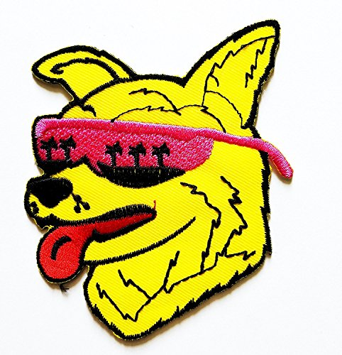3.5 x3.5 inches.Animal Cool Husky Dog with Sunglasses Patch Embroidered DIY Patches, Cute Applique Sew Iron on - No Minimum Sunglasses Custom