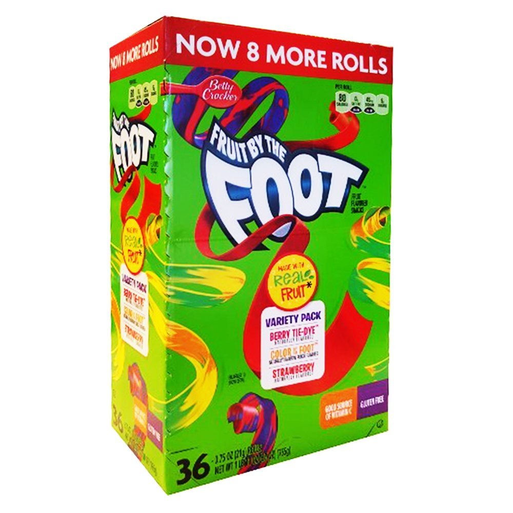 Fruit By the Foot Variety Pack (Strawberry, Berry Tie Dye, Color By the Foot, 36-count Rolls