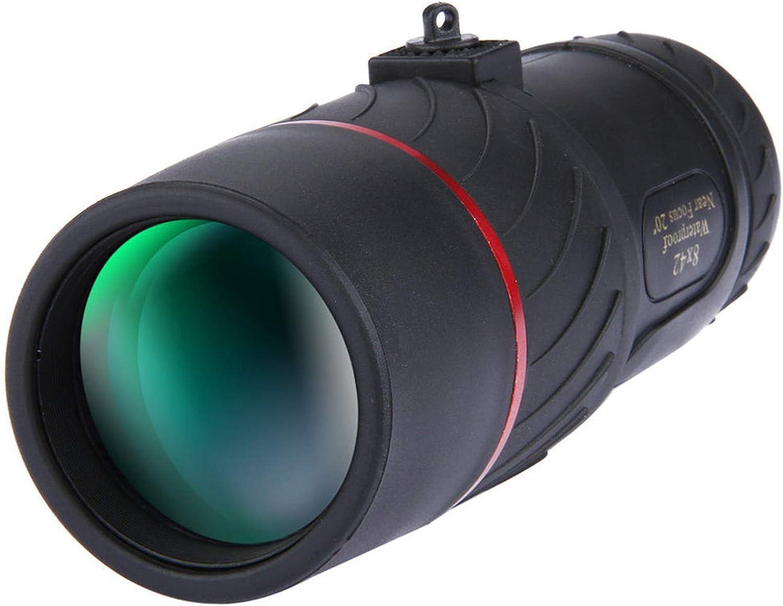 Binoculares Monoculares 8X42 Monocular Night Vision HD Lente óptica Ocular Camping Viajes para Observación De Aves, Observación De Estrellas, Viajes