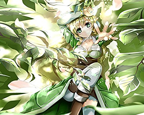Superb Poster Square Sword Art Online Leafa 2 Poster Japanese Anime Manga Wall Art Print Decor High Quality Print (Sword Art Online Panel Poster)