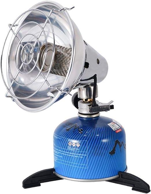 Forart Mini calentador de calentador de camping portátil al aire libre estufa de gas portátil calentador de tienda de pesca de propano al aire libre ...