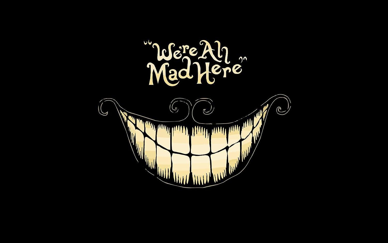 Amazon Pop Home Store Minimalism Dark Black Cheshire Cat Alice