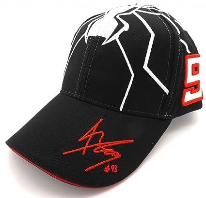 Marc Marquez 93 Moto GP Racing Negro Hormiga Logo Gorra Oficial