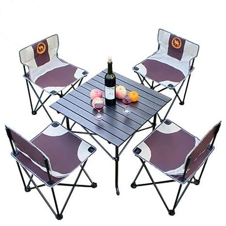 Mesa de Picnic Plegable para 4 Personas con 4 sillas de ...